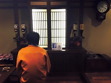 日本酒の試飲と振り子時計