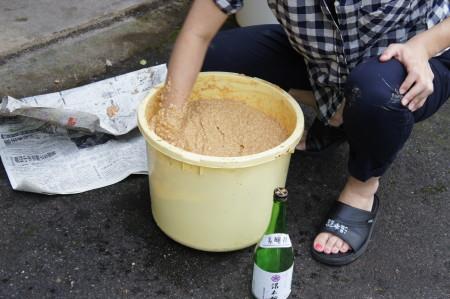 手作り味噌混ぜ