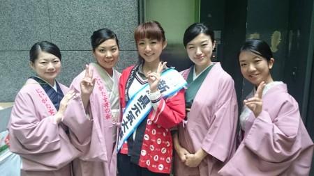 今井美穂さんと一緒に新潟若女将軍団!