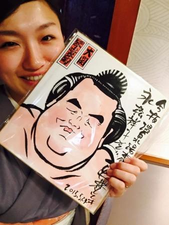 琴奨菊の似顔絵!