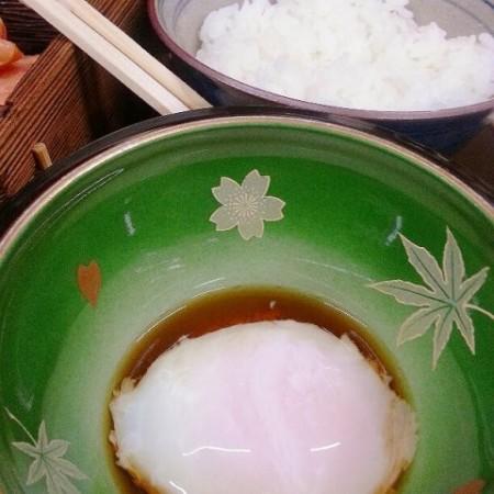 五頭今板温泉 湯本館の朝食、温泉卵の画像