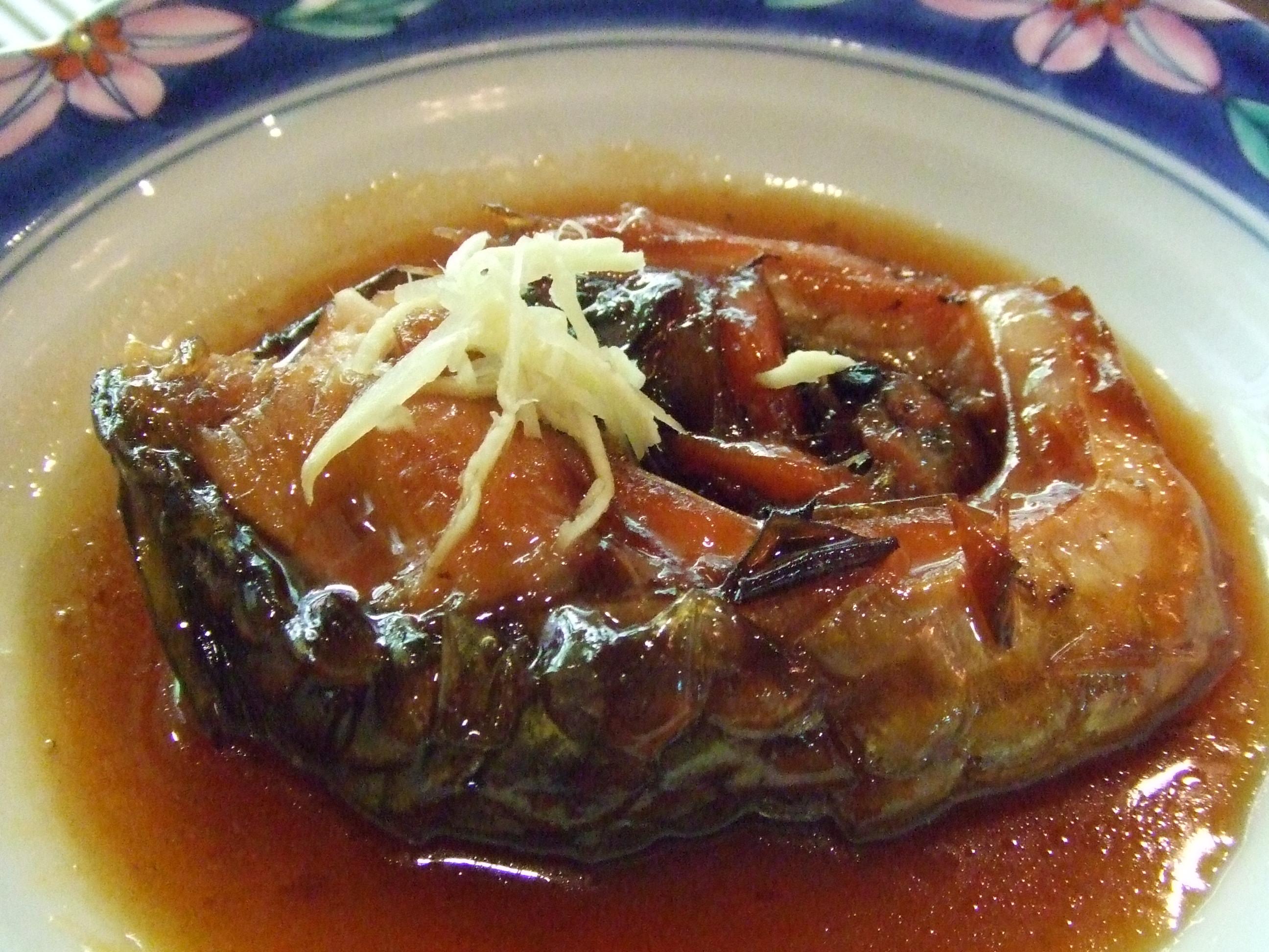 料理(鯉料理) - 新潟 三川温泉 湯元館