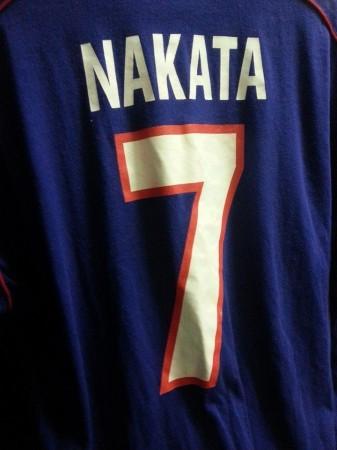 元・サッカー日本代表 中田英寿の背番号7番